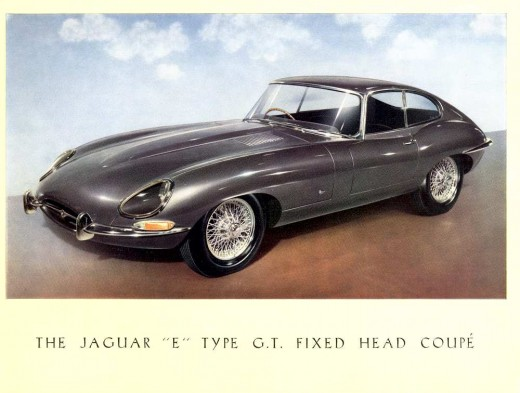brochure de lancement Jaguar Type E