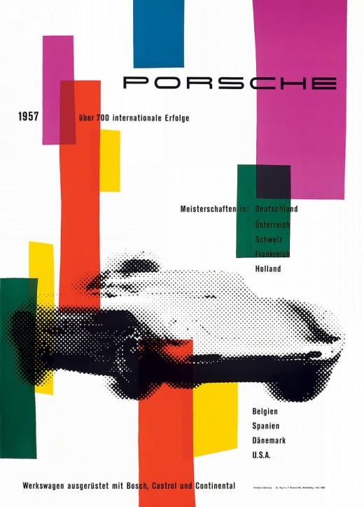 Poster Course Porsche