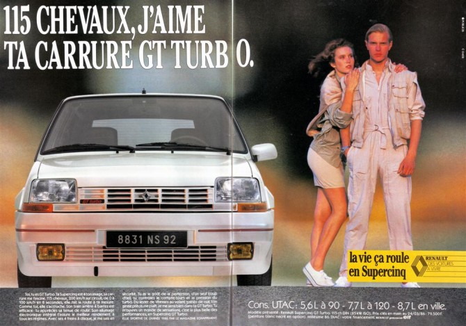 pub-renault super 5 gt turbo