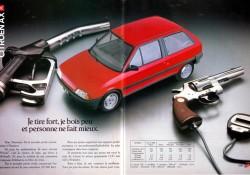 Publicité Citroen-AX-1988