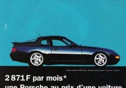 Publicité Porsche 968 -1994