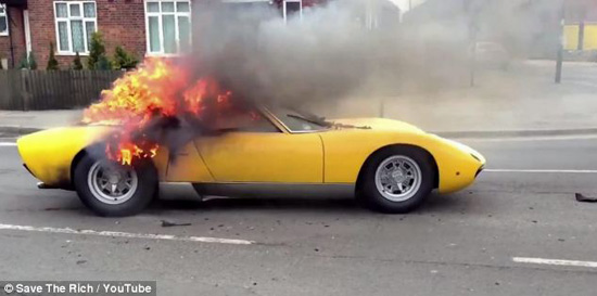 lamborghini fire london